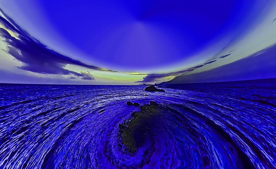 Little Photograph - Little Planet Blue by Galeria Trompiz