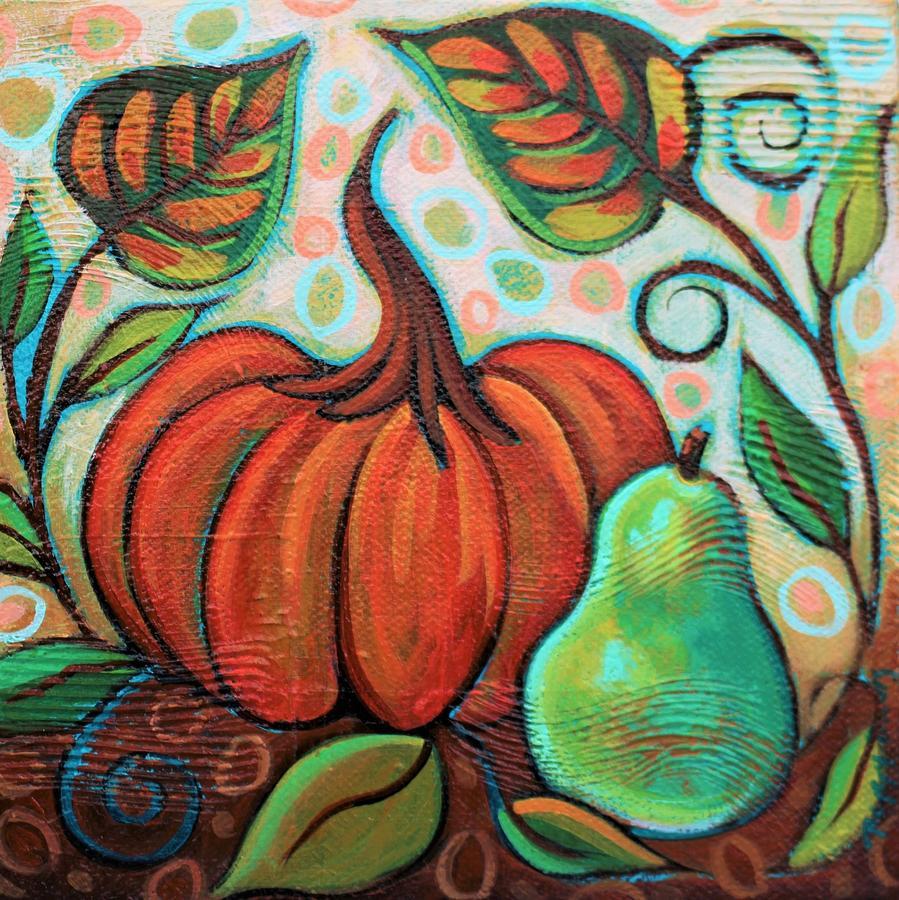Little Pumpkin 2 Painting by Peggy Davis