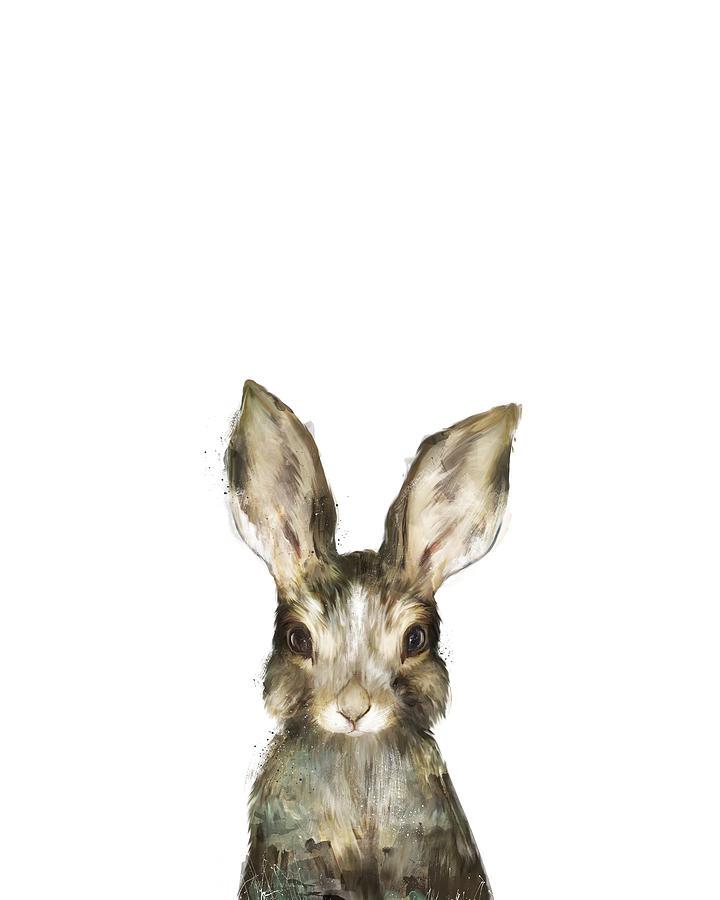 Rabbit Painting - Little Rabbit by Amy Hamilton