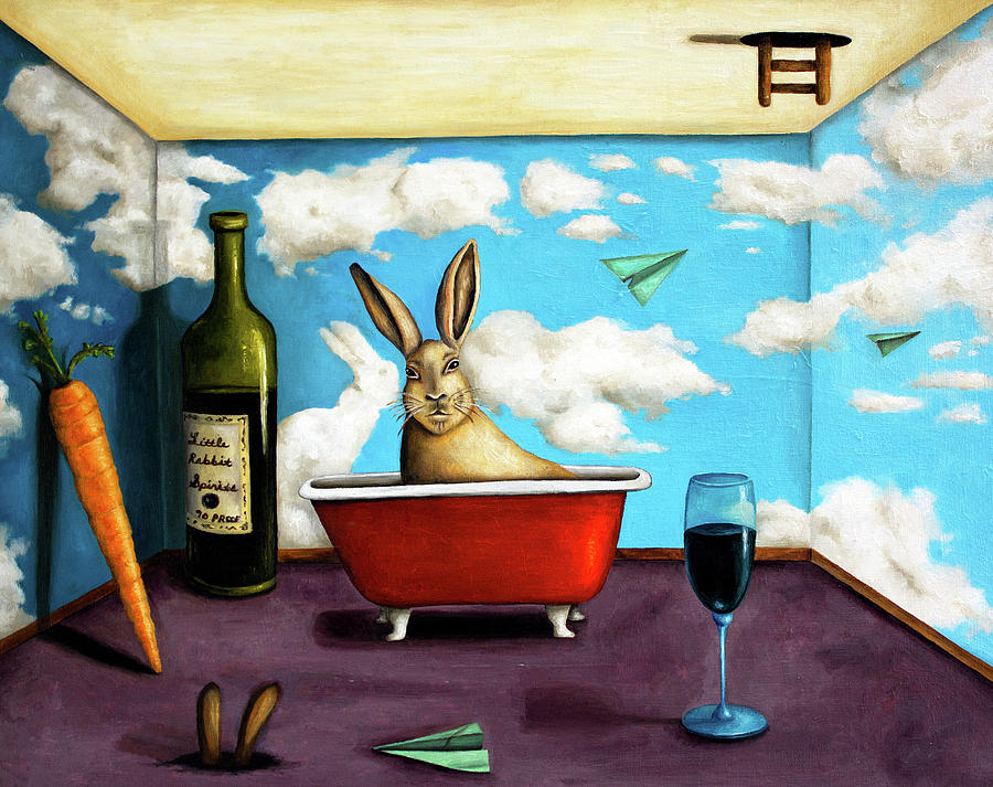 Little Rabbit Spirits Painting by Leah Saulnier The Painting Maniac