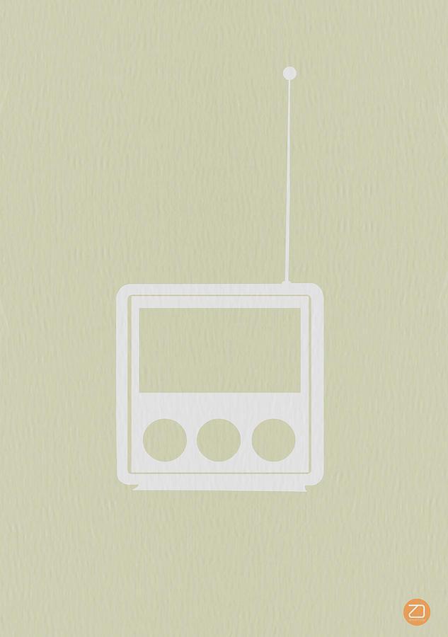 Radio Digital Art - Little Radio by Naxart Studio