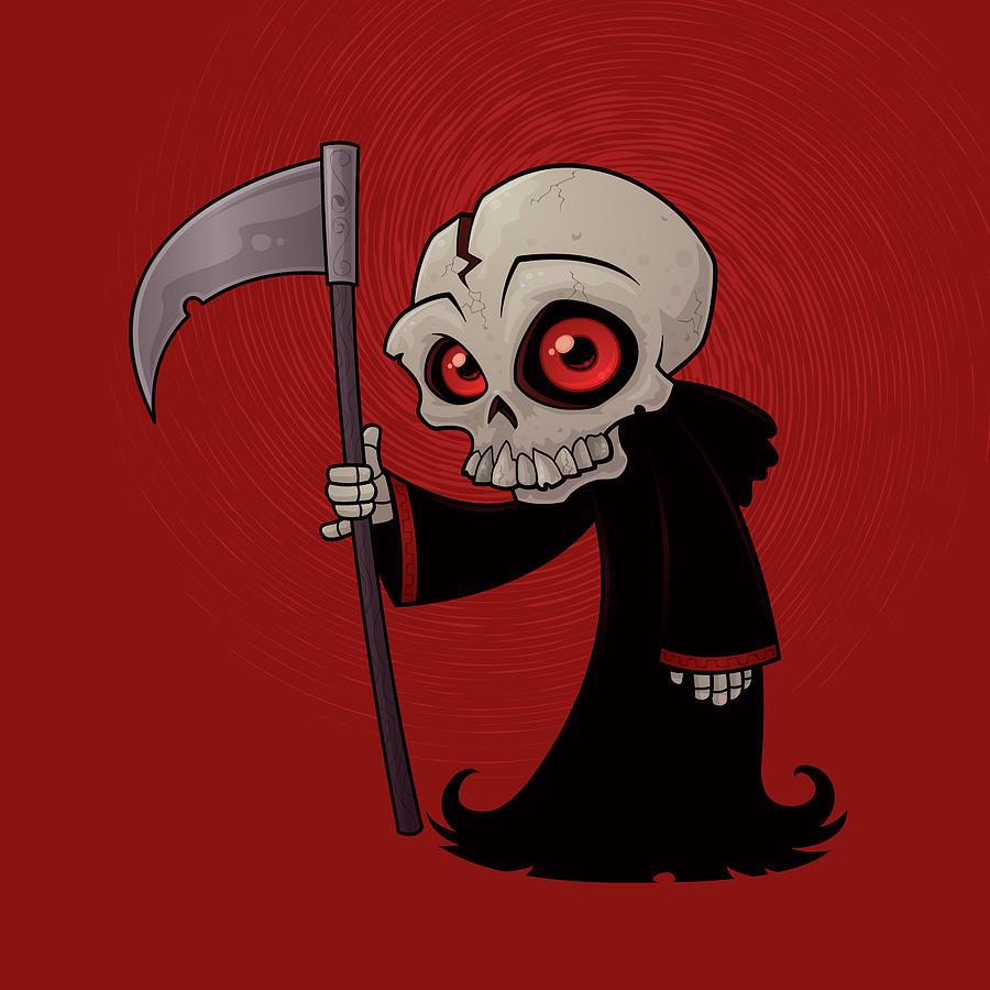Grim Reaper Digital Art - Little Reaper by John Schwegel