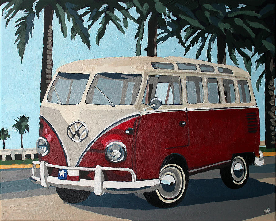 Little Red Bus Painting