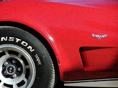 Hot Rod Cars Photograph - Little Red Corvette by Barbara Love Newport