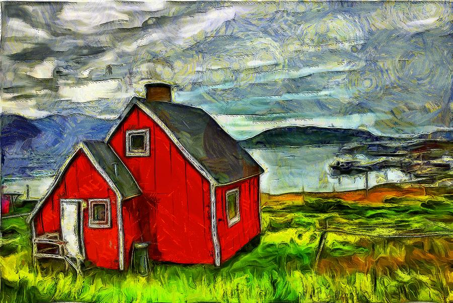 Little Red House In Greenland