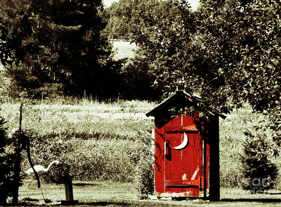 Landscape Photograph - Little Red Outhouse by Ms Judi