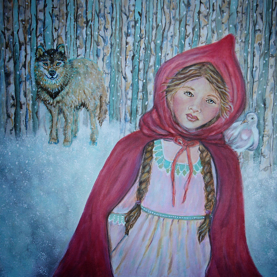 Painting Painting - Little Red Riding Hood by The Art With A Heart By Charlotte Phillips