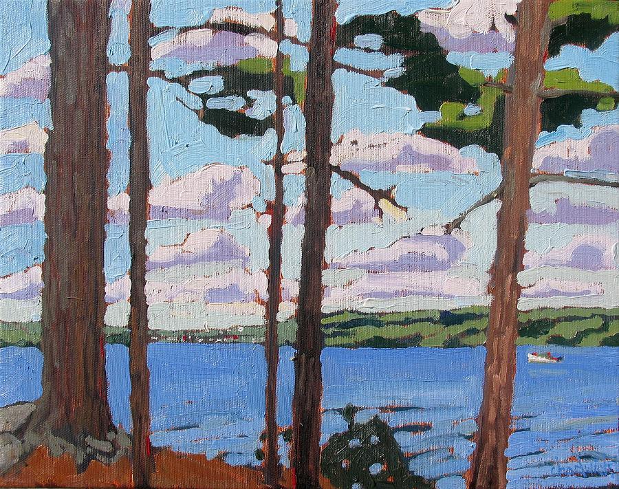 Rideau Painting - Little Rideau Lake by Phil Chadwick