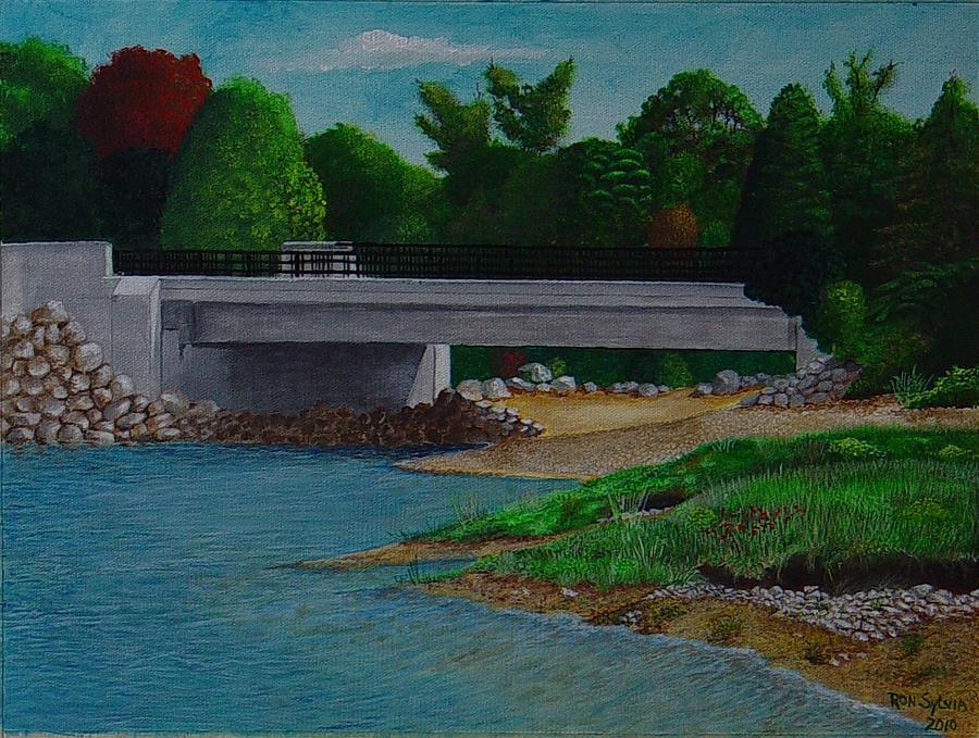 Bridge Painting - Little River Bridge by Ron Sylvia