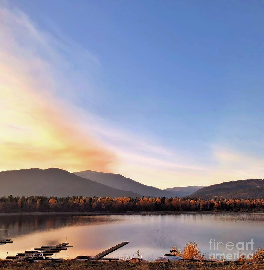 Shuswap Photograph - Little River In The Fall by Victor K