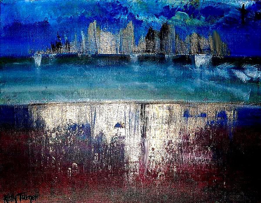 Landscape Painting - Little Rock Arkansas by Kelly Turner