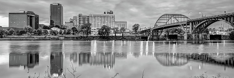 Little Rock AR City Skyline Picture Framed Panorama