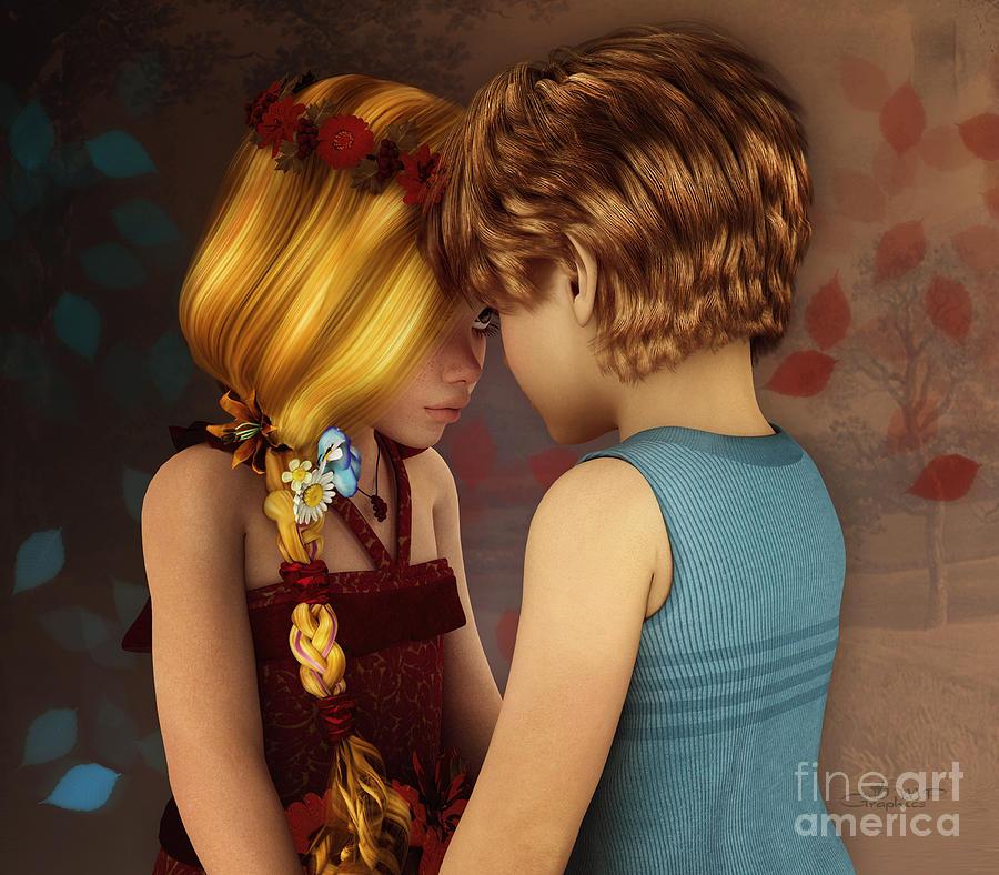 3d Digital Art - Little Romance by Jutta Maria Pusl