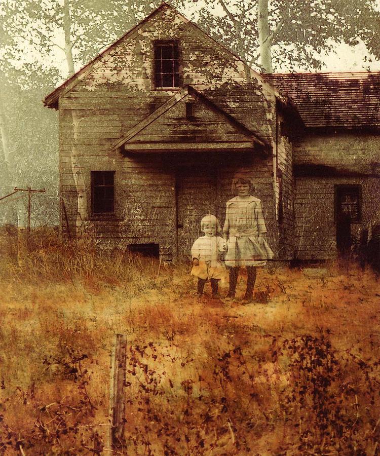 Ghosts Photograph - Little Sister by Brande Barrett