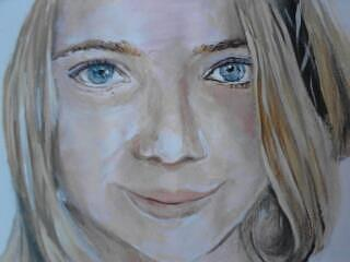 Portret Painting - Little Smile by Cristina Maxim