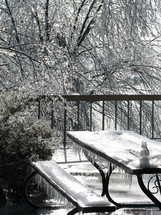 Snowman Photograph - Little Snowman by Ashley Cameron