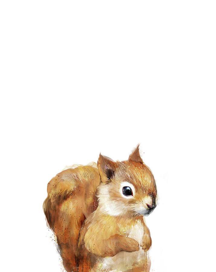 Squirrel Painting - Little Squirrel by Amy Hamilton