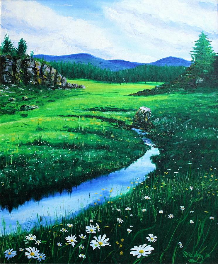 Landscape Painting - Little Stream by Mike Ivey