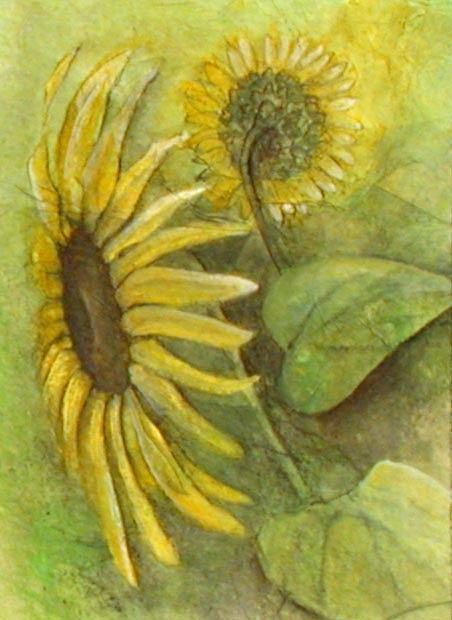 Sunflower Painting - Little Sunflower 1 by Sandy Clift
