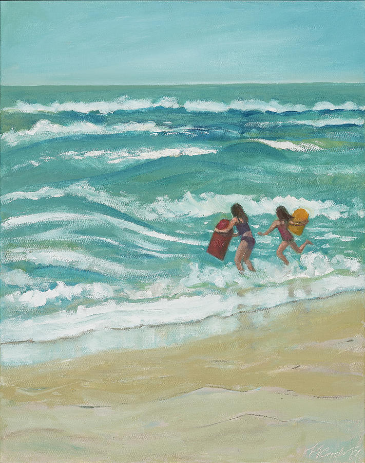Little Surfers by Laura Lee Cundiff