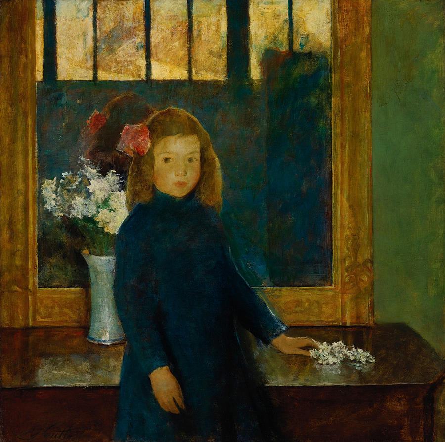 Girl Painting - Little Sylvia by Charles Webster Hawthorn