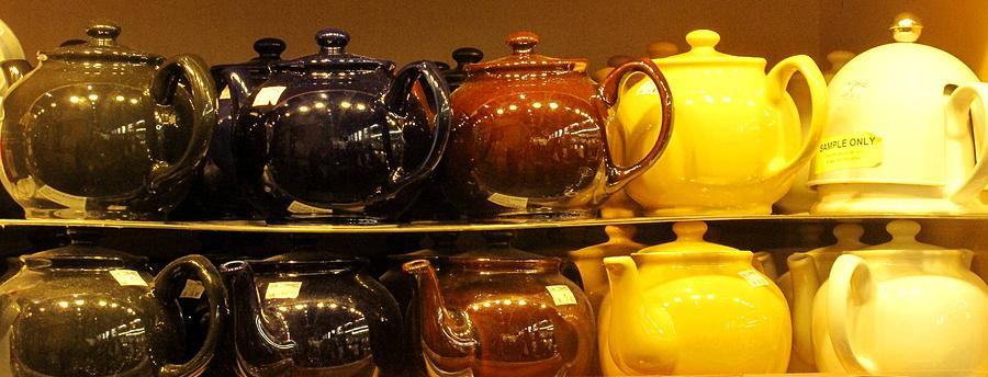 Teapots Photograph - Little Teapots by Ian  MacDonald