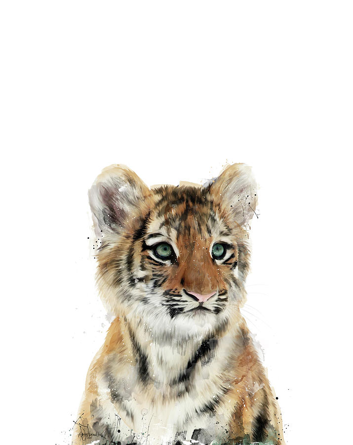 Little Tiger Painting By Amy Hamilton