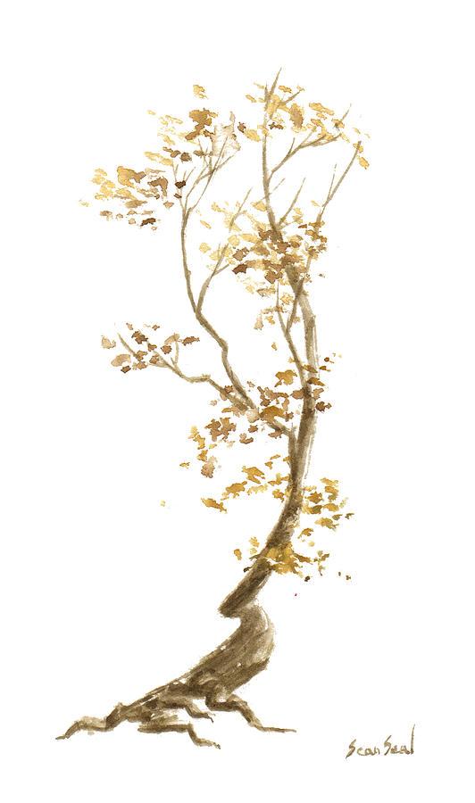 Bonsai Tree Painting - Little Tree 57 by Sean Seal