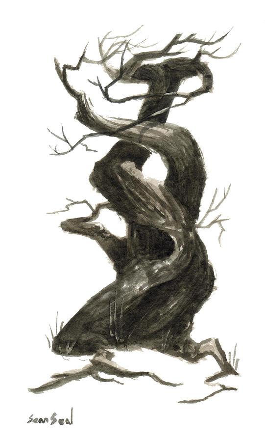 Jesus Painting - Little Tree 79 by Sean Seal