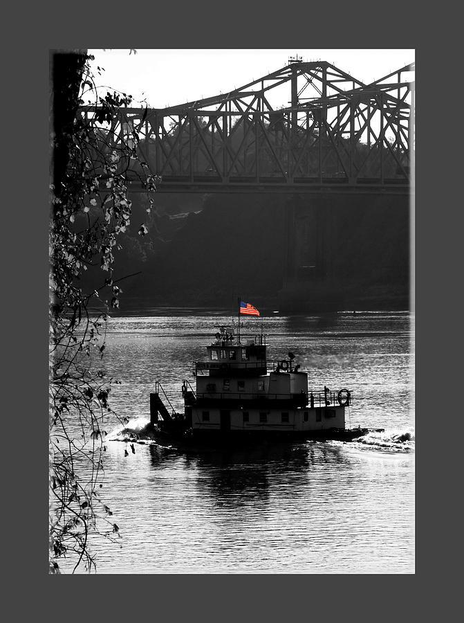 Tug Boat Photograph - Little tug by Leon Hollins III