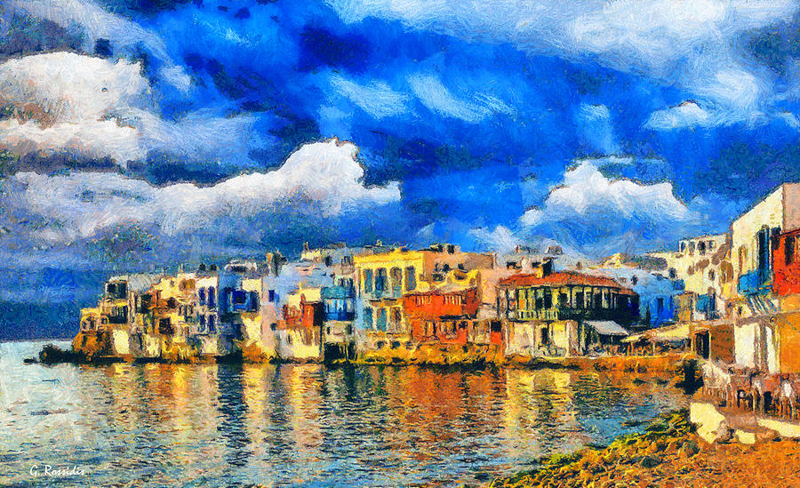 Sky Painting - Little Venice by George Rossidis