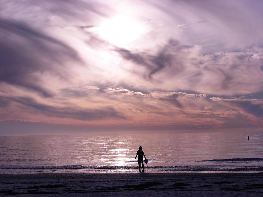 Beach Photograph - Little Waves Big World by Amanda Vouglas