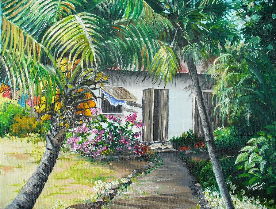 Little West Indian House 2...sold Painting by Karin  Dawn Kelshall- Best