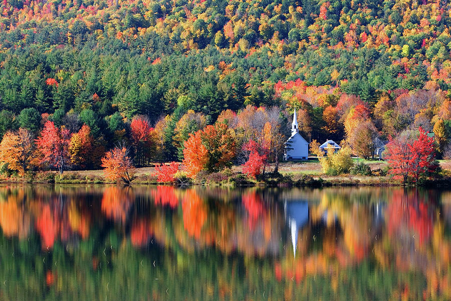'Little White Church', Eaton, NH	 by Larry Landolfi