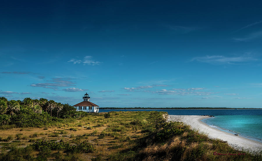 Lighthouse Photograph - Little White Lighthouse by Marvin Spates