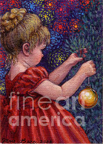 Occupy China Painting - Little Winter Girl by Jane Bucci