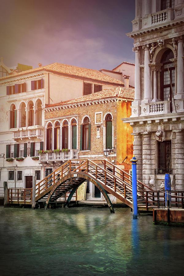 Venice Photograph - Little Wooden Footbridge In Venice Italy  by Carol Japp