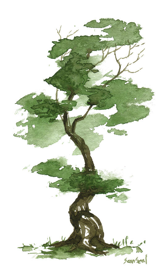 Little Zen Tree 208 Painting By Sean Seal