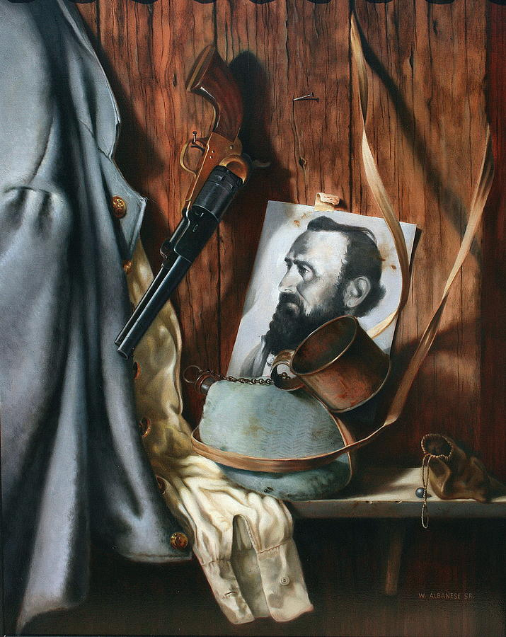 Gun Painting - Live And Die In Dixie by William Albanese Sr