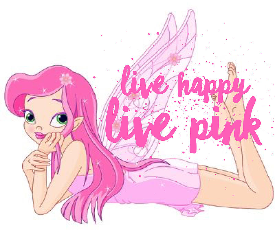 Live Happy Test Digital Art by The Pink Princess Shop