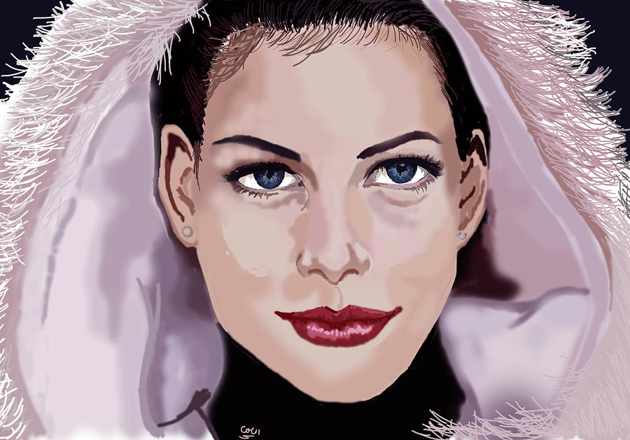 Movie Actress Digital Art - Live Tyler by Colin Hockless