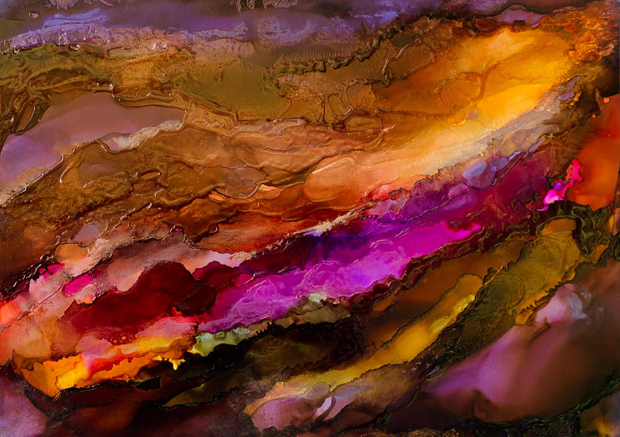Abstract Painting - Live Your Passion - C - by Sandy Sandy