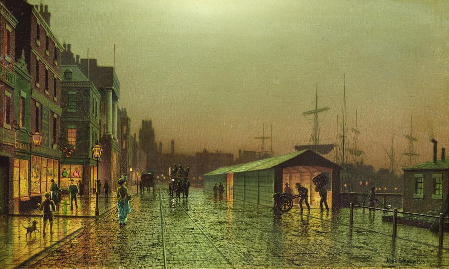 Liverpool Painting - Liverpool Docks by John Atkinson Grimshaw