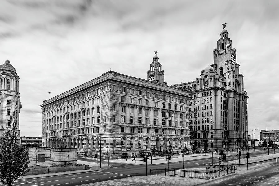 Cunard Building Photograph - Liverpool Royal Liver And Cunard Buildings by Georgia Fowler