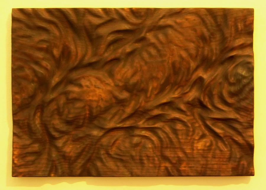 Wood Sculpture - Lives Are Like Rivers... by Evan Leutzinger