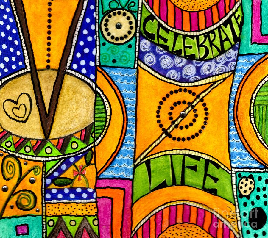 Greeting Cards Mixed Media - Living A Vibrant Life by Angela L Walker