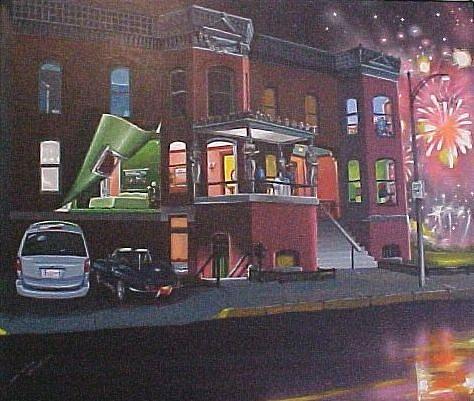 Black Painting - Living Above Highway 64 by Bobbi Baltzer-Jacobo