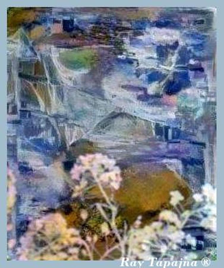 Blue Mystic Mixed Media - Living It by Ray Tapajna