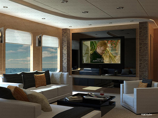 Living Room And Tv Digital Art By Carlos Cunha