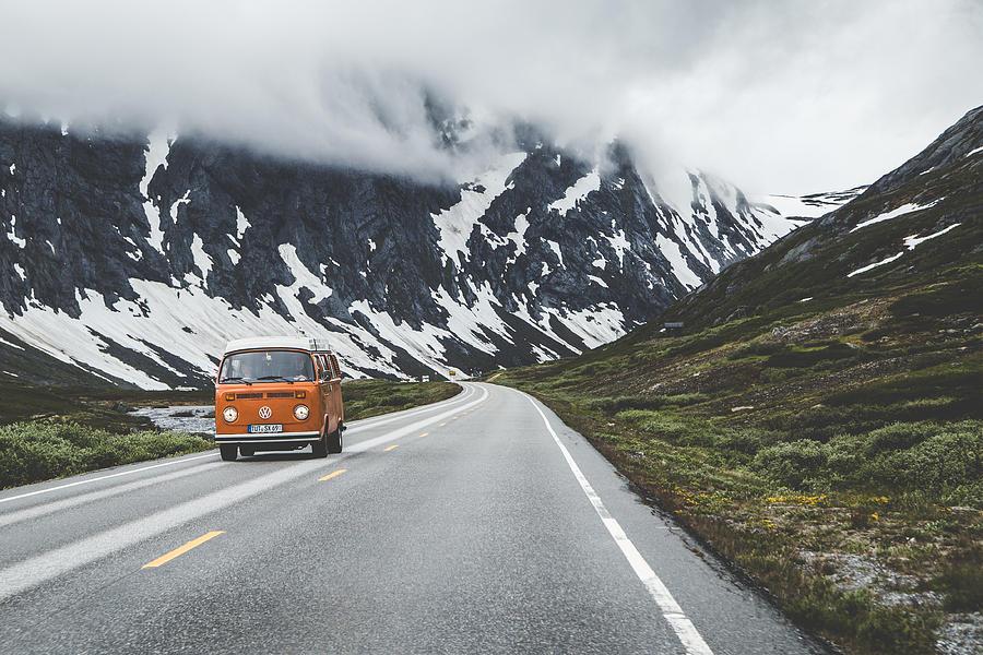 Vw Bus Photograph - Living the dream by Aldona Pivoriene